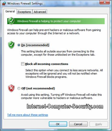 How to use Windows Firewall Settings